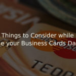 Things to Consider while Outsource your Business Cards Data Entry