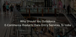 Why Should You Outsource E-Commerce Products Data Entry Services To India